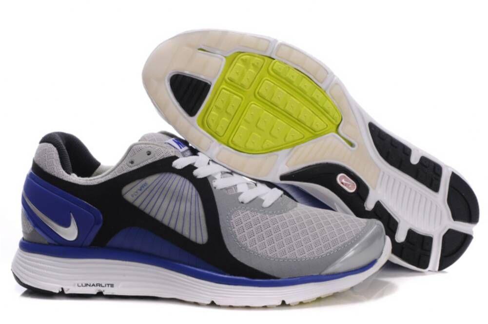 Eclipse Gray Black Blue Nike Lunar Shoes