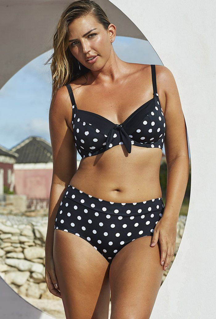 5febd03241 ... layer seamed lining; Signature PowerMesh tummy-control front panel  instantly slims; Double keyhole back closure; Adjustable straps; 7.5quote;  low waist ...