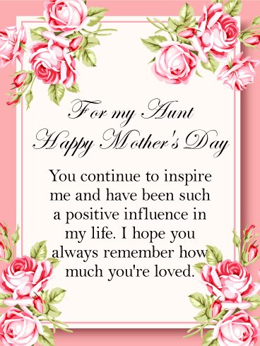 You Are A Positive Influence Happy Mother S Day Card For Aunt Birthday Greeting Cards By Davia Happy Mother S Day Aunt Happy Mothers Day Wishes Happy Mother Day Quotes