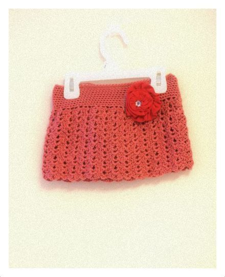 Pattern  Crochet Lace Mini Skirt for Girls Sizes by DewdropsDesign, $4.99