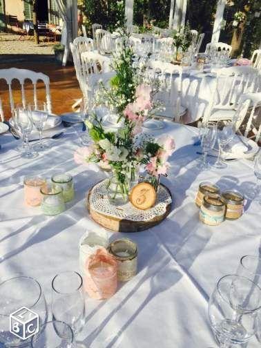 Deco table mariage champetre retro vintage boheme