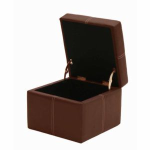Leather · Small Brown Faux Leather Storage Boxes