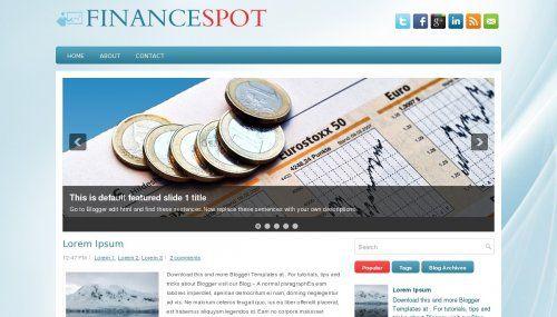 FinanceSpot Blogger template » http://btemplates.com/9915