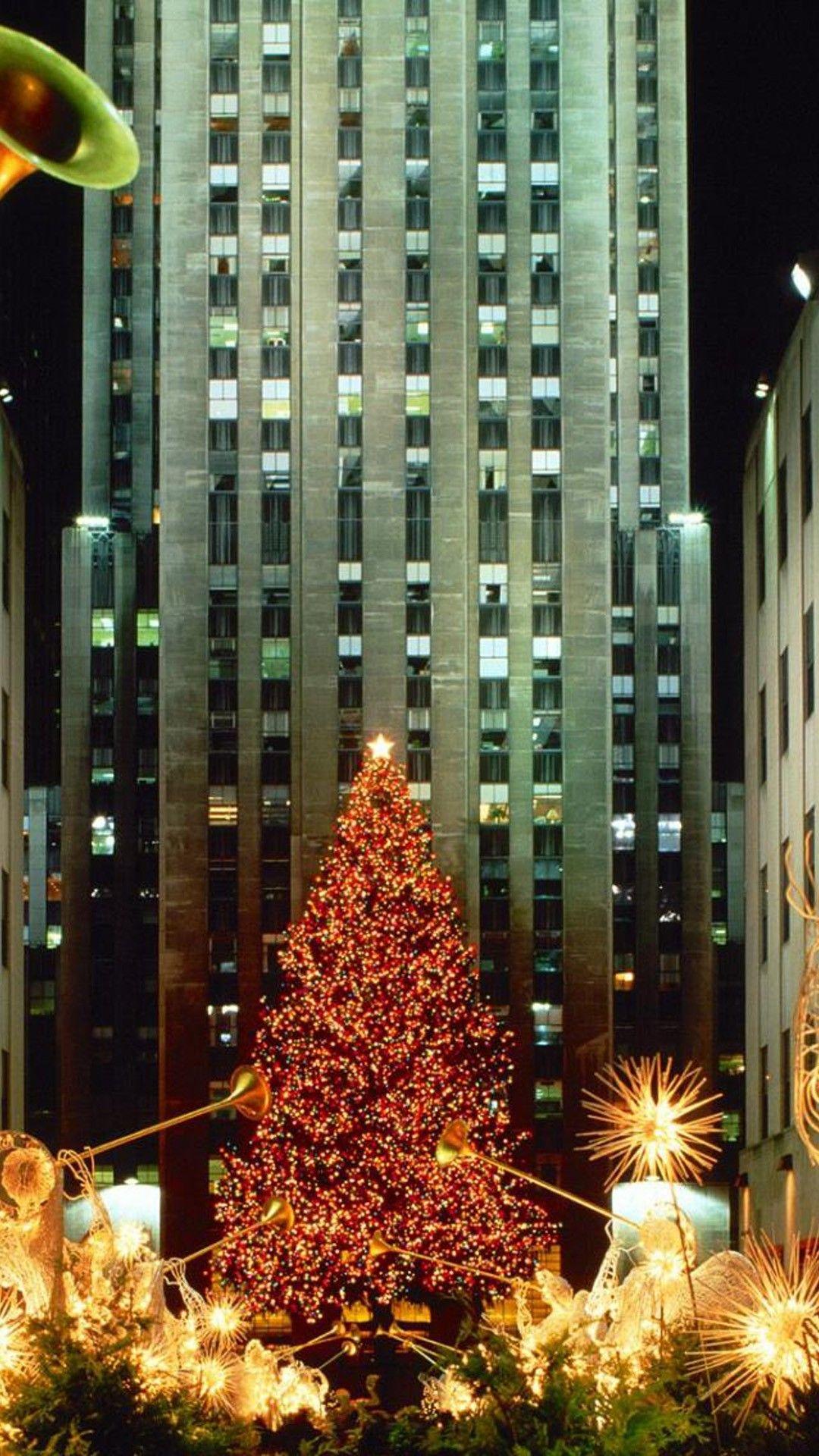 Christmas In New York Tree Lights Phone Wallpaper Hd Check More At Https Phonewallp Com Christmas Christmas Lights Wallpaper Lit Wallpaper New York Wallpaper