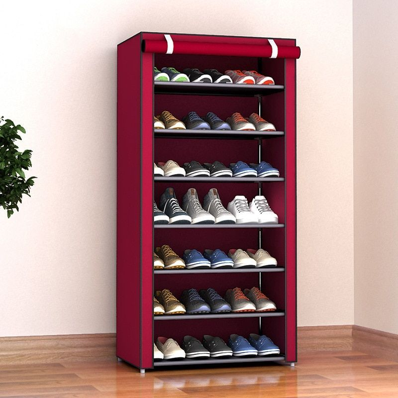 Mobel Kombination Schuhschrank Einfache Stoff Stoff Aufbewahrungsschuhe Rack Folding Staubdichte Schuh Sh Aufbewahr In 2020 Diy Wohnmobel Schrank Organizer Flurschrank