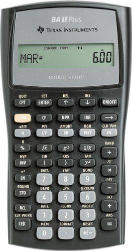 Texas Instruments Advanced Financial Calculator Texas Instruments - financial calculator