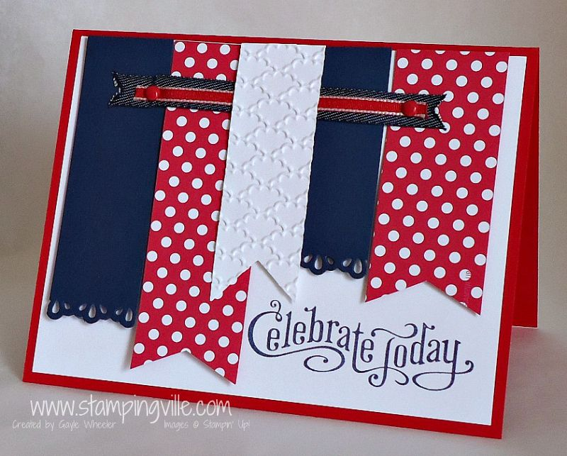Celebrating The Red White Blue Cards Handmade Military Cards