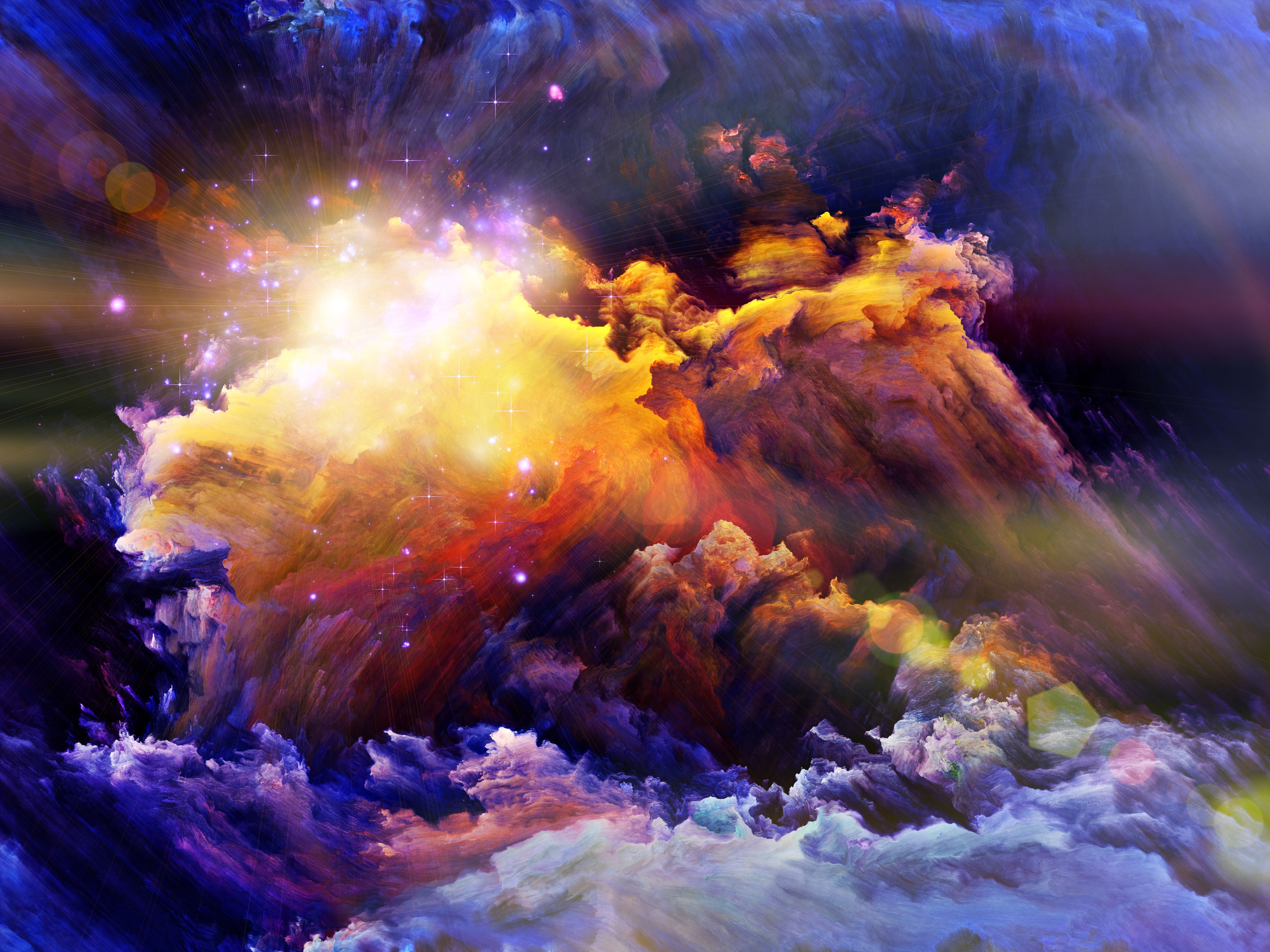 Colourful Fantasy Cloud Backgrounds: Explosion, Milky Way, Ink, Brightness, Smoke, Cloud