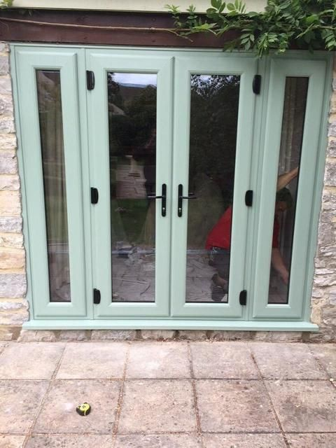 chartwell green french doors and fixed window butters
