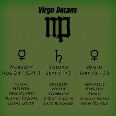 The decans of Virgo