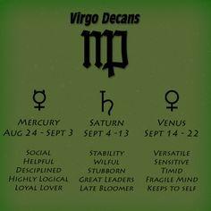 decan virgoe horoscope