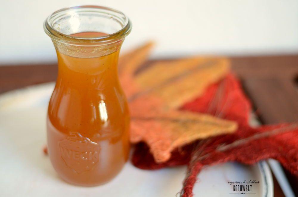 Pumpkin-Spice-Syrup - VeggieKochwelt | Kürbisgewürz, Sirup ...