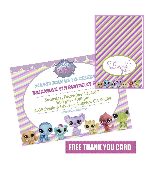 Littlest Pet Shop Invitation | LPS Invitation | Littlest Pet Shop ...