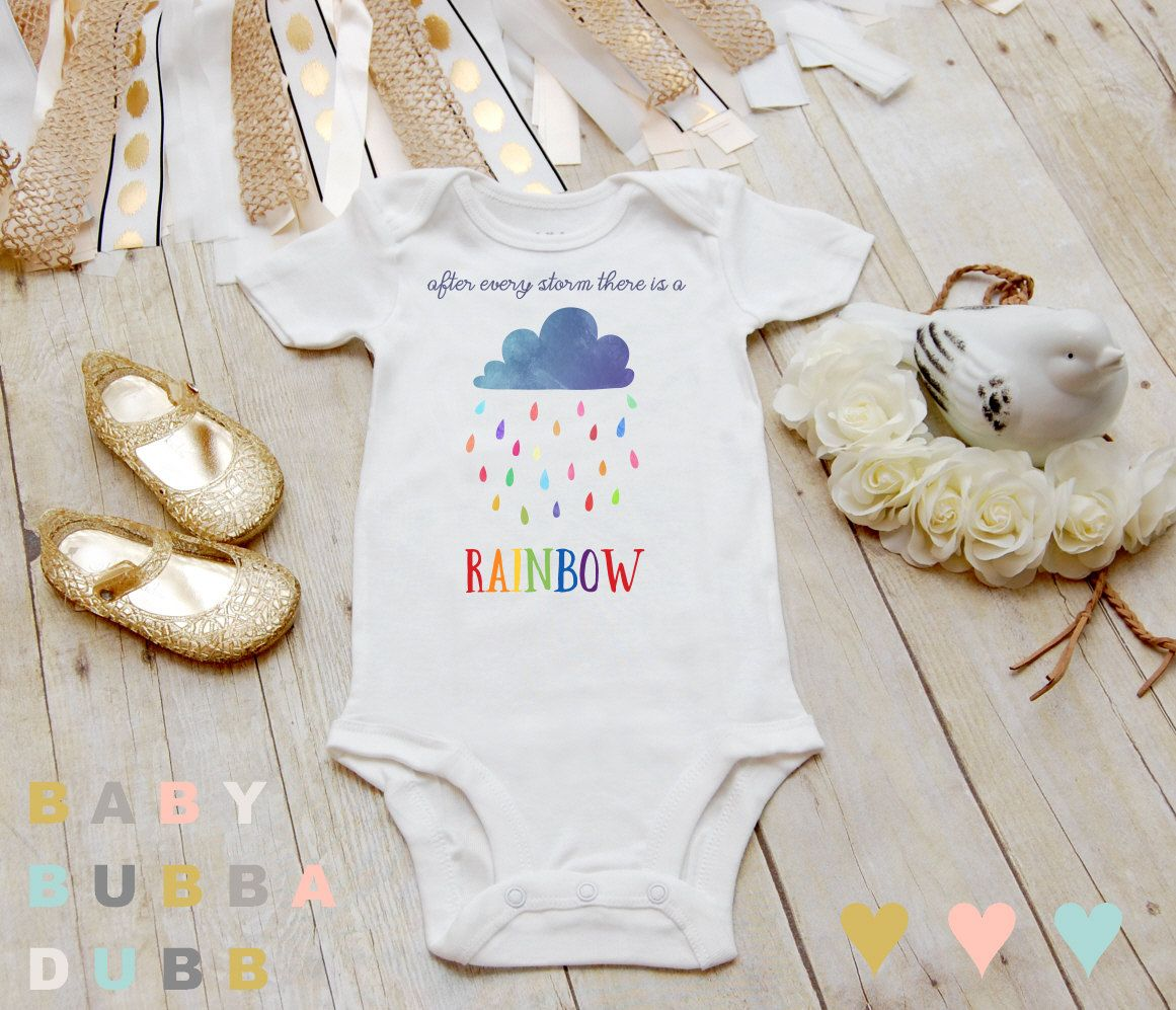 67d636765400 After Every Storm There Is A Rainbow Onesies® by BabyBubbaDubb ...