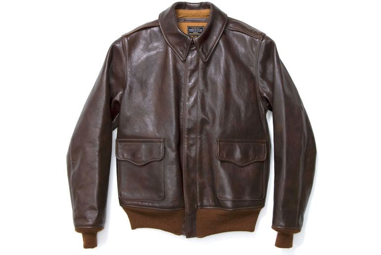 c0b2368629b A reproduction A-2 Flying Jacket from The Real McCoy s. Image via  Blue in  Green.