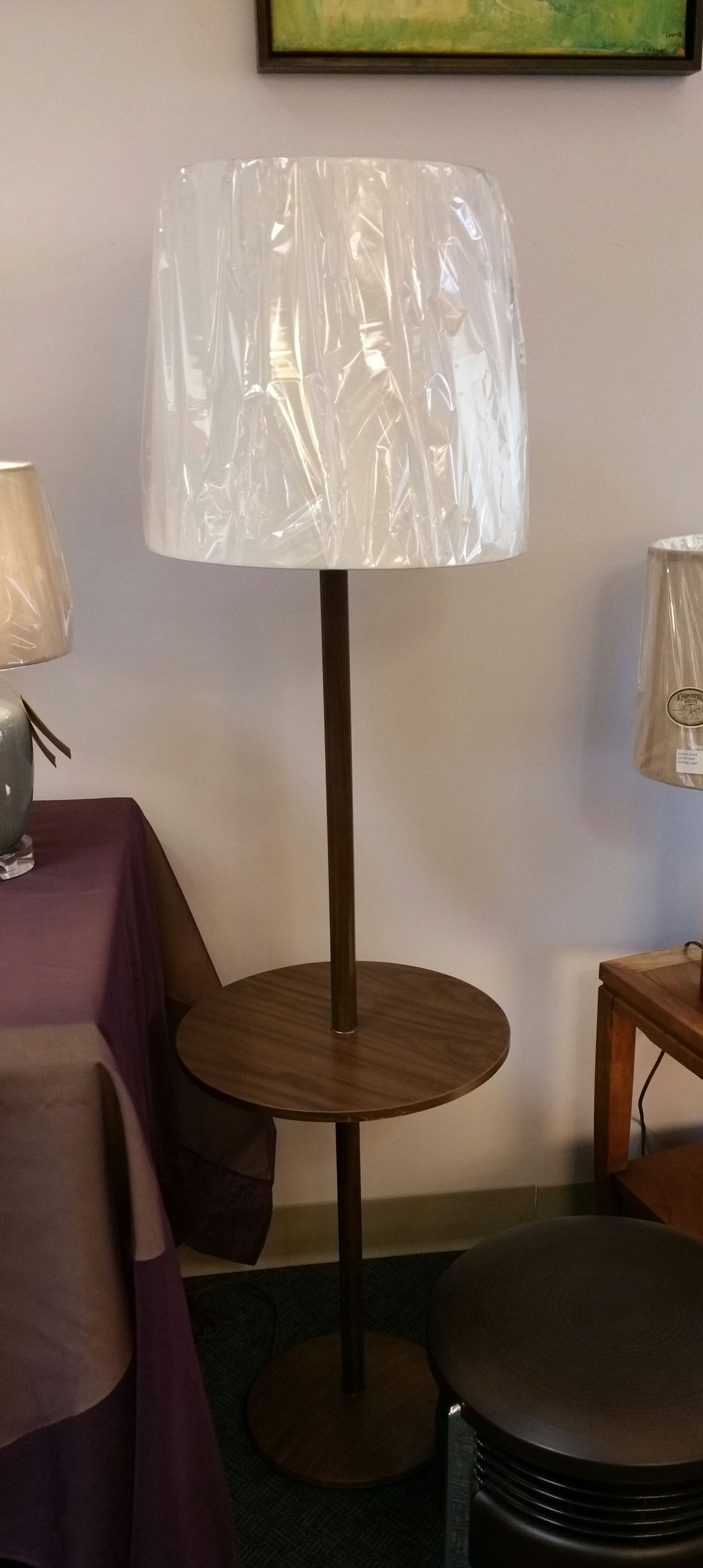 Mid Century Wood Metal Table Floor Lamp Combo 169 95 Shade Sold