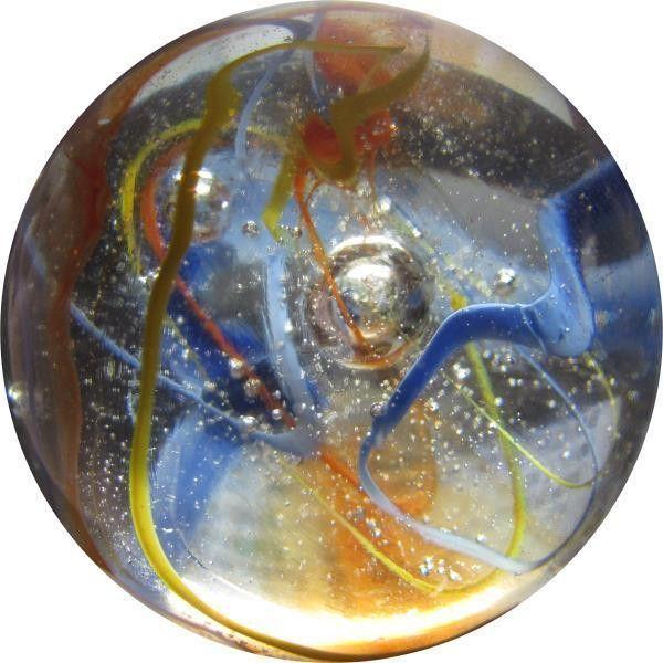 """Mega Fun 2"""" (50mm) Translucent Fiesta Toebreaker Glass Marbles"""