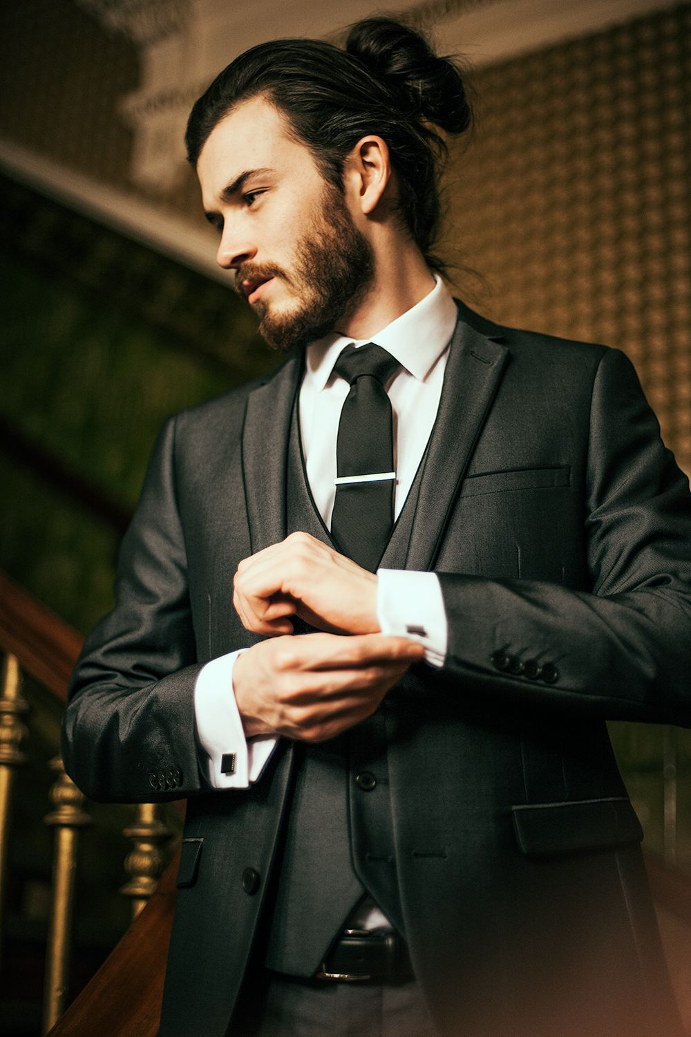 Image result for suit jacket long hair long hair styles