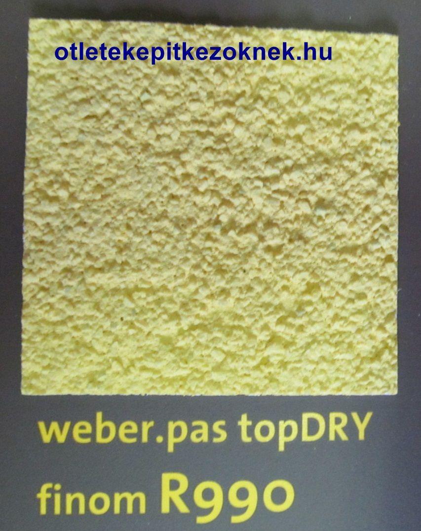 weberpas topDRY finomszemcsés vékonyvakolat struktúrája