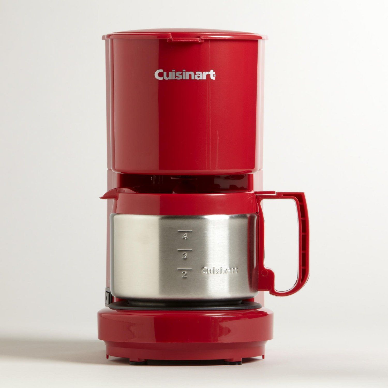 Amazon Com Red Cuisinart 4 Cup Coffeemaker World Market Home Kitchen My New Coffee Maker 4 Cup Coffee Maker Coffee Maker Cuisinart Coffee Maker