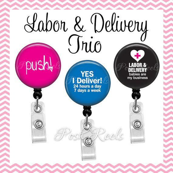 ID Badge Holder Labor /& Delivery Badge Reel Badge Holder OB Nurse Nurse Badge Reel Badge Reel Medical Badge Reel Retractable Badge