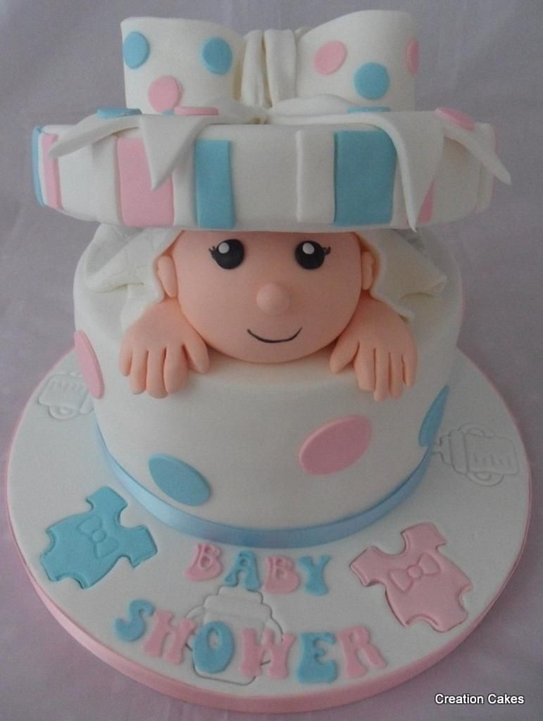 Baby box surprise cake cake by creationcakes