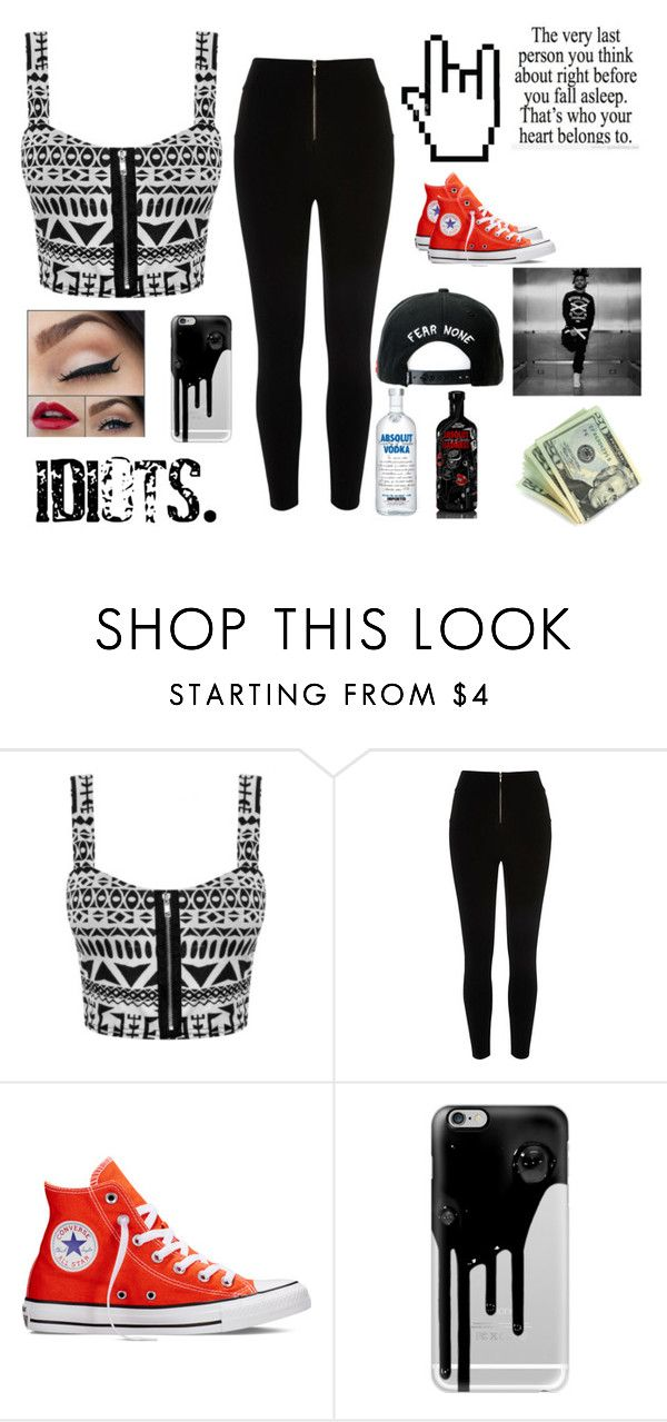 """""""Party with THE WEEKND"""" by chica-apollo ❤ liked on Polyvore featuring River Island, Converse, Casetify, Aiko and Trukfit"""
