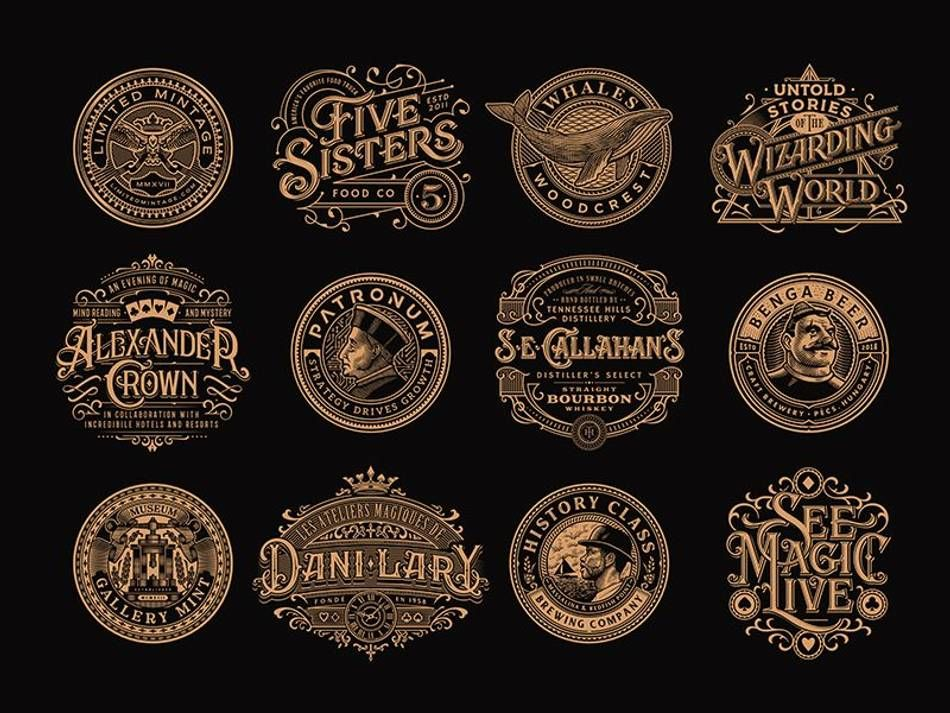 Vintage Logo Collection Vintage Logo Logo Collection Victorian Lettering