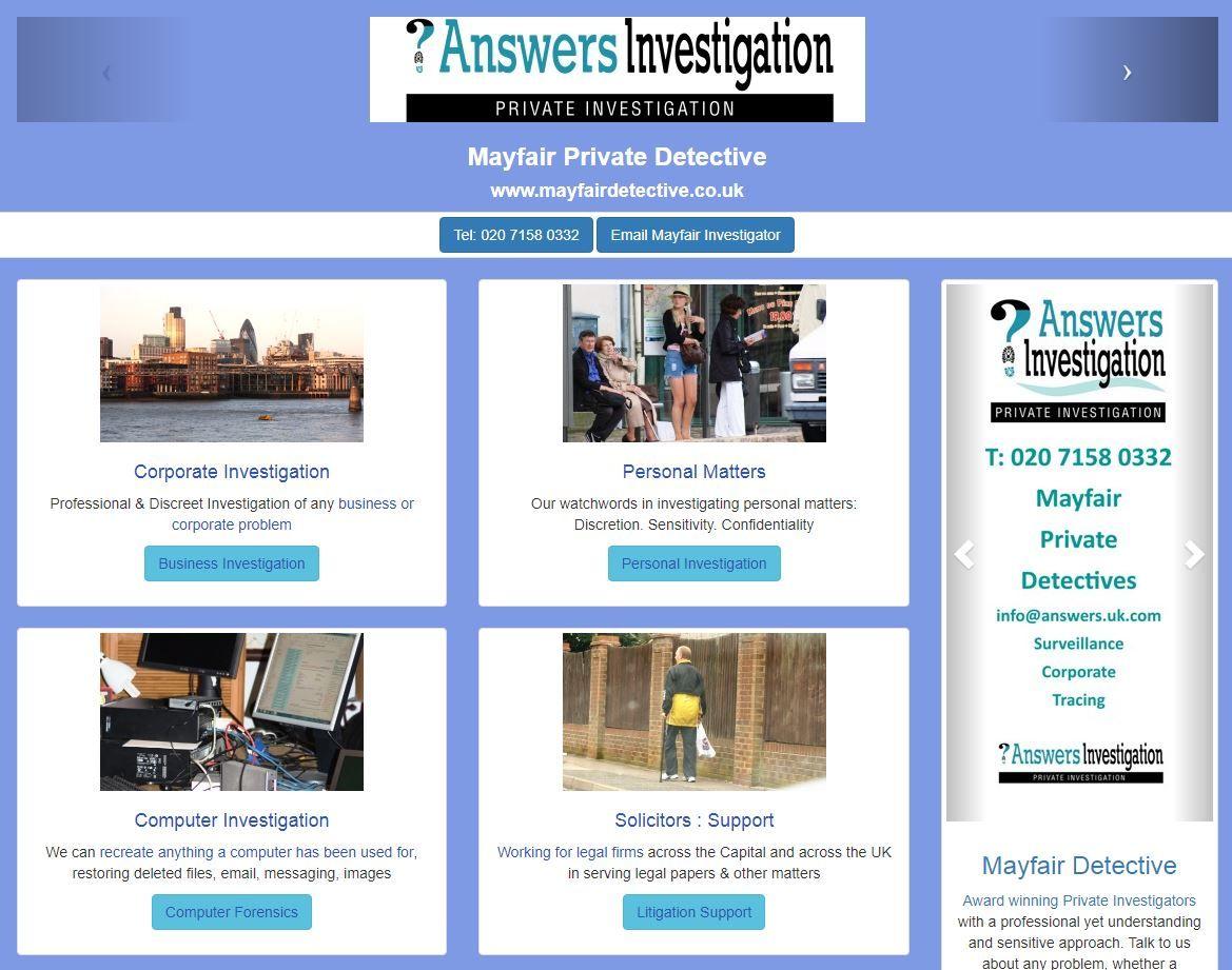 Mayfair Private Investigator