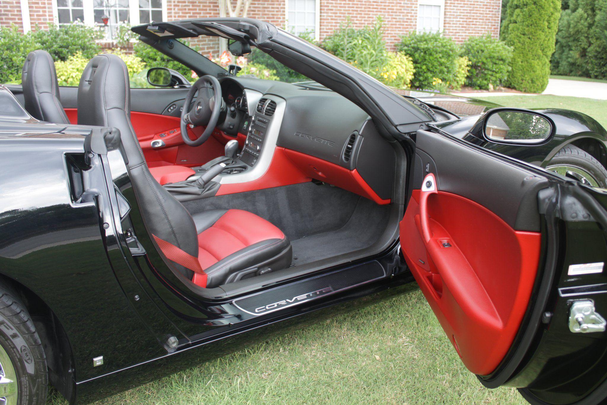 Awesome black red interior of c6 corvette corvette