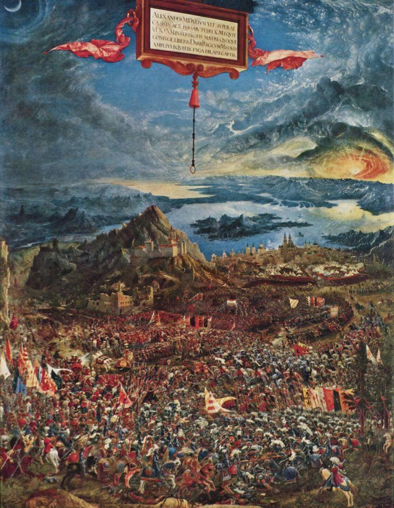 Historienmalerei  Albrecht Altdorfer. Alexanderschlacht. 1529, Holz, 158 × 120 cm ...