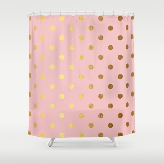 Beautiful Pattern Of Sparkling Golden Dots On Pink Backround