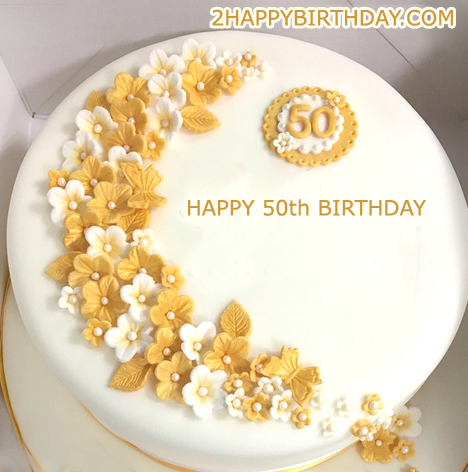 50th Happy Birthday Cake Name Generator Happy Birthday Cake Images Happy Birthday Cakes Happy Birthday Wishes Cake