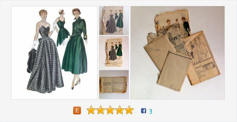 Vintage Simplicity Sewing Pattern One Piece Dress Jacket #Vintage #ourvintagehour #mamboteam https://www.etsy.com/listing/237217198/…