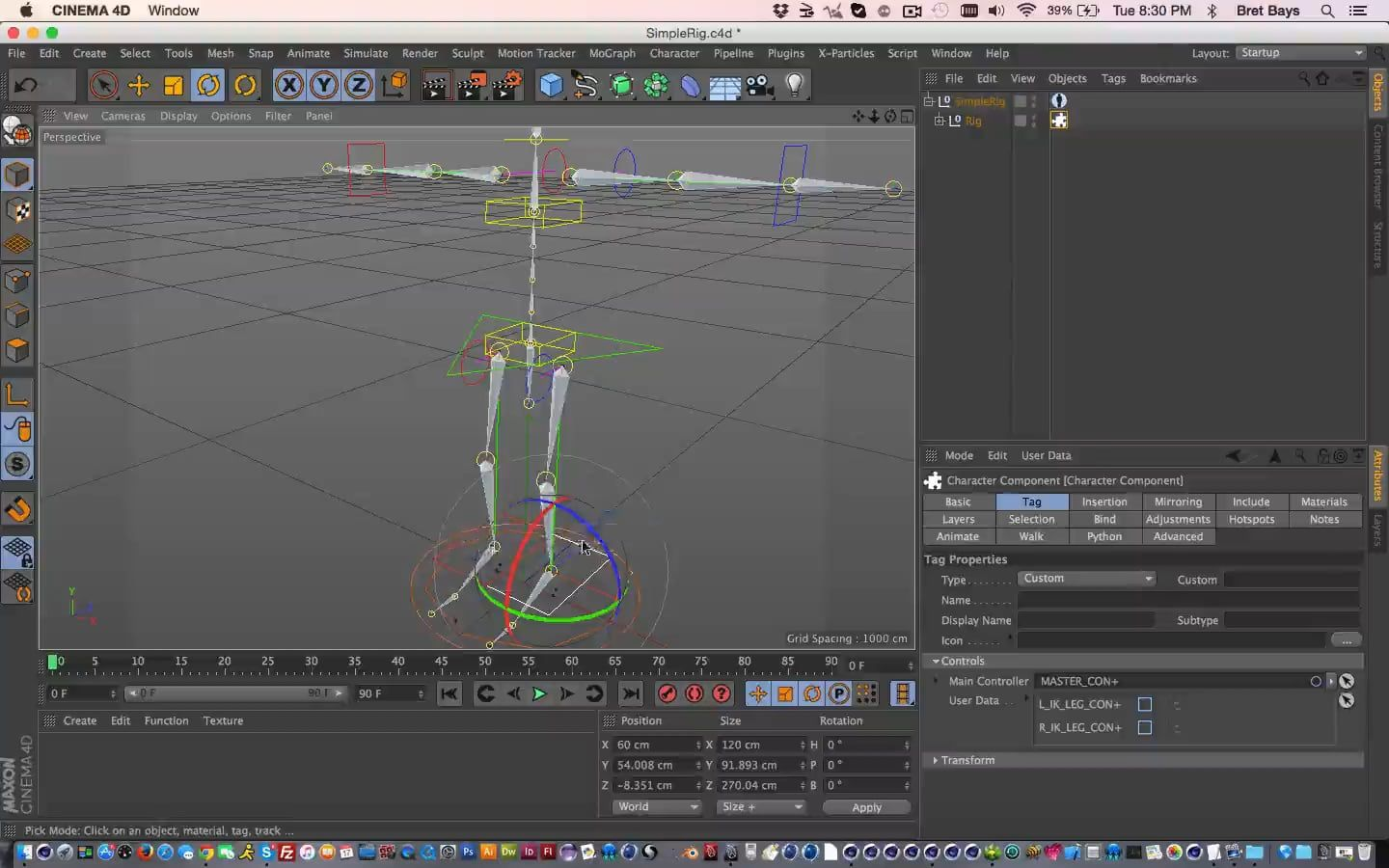 Creating A Simple Rig Template From Existing Rig 05c4d Tuts