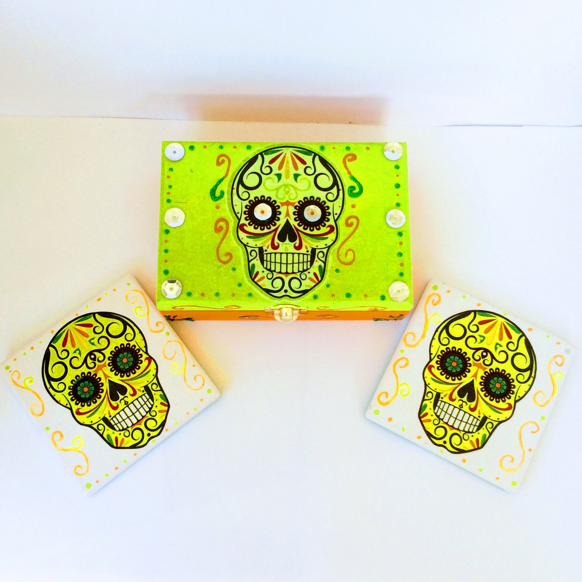 Day of the dead da de los muertos jewelry box sugar skull day of the dead da de los muertos jewelry box sugar skull ceramic tiles dailygadgetfo Choice Image