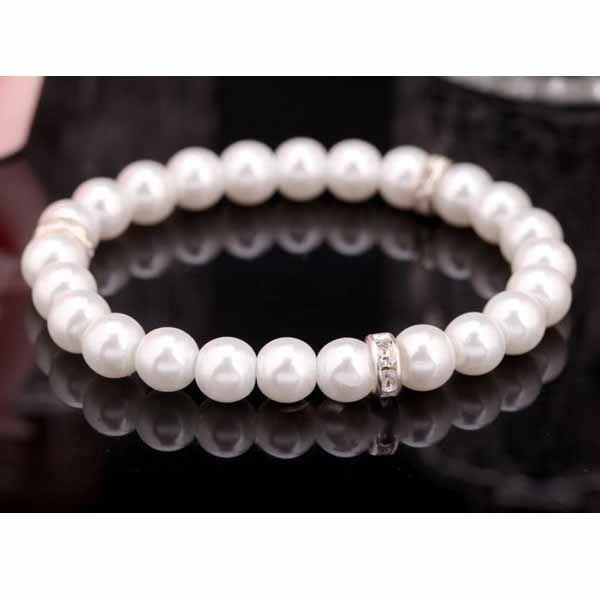 Wedding Antique Simple Silver Plated Jewelry Open Pearl Ring Imitation