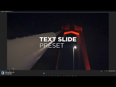 Text Slide Preset Tutorial for Premiere Pro by Chung Dha