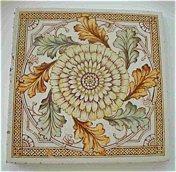 Sunflower Aesthetic Movement Tile