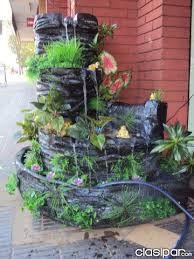 Fuentes cascadas para jardin interesting fuentes de agua for Cascada artificial casera
