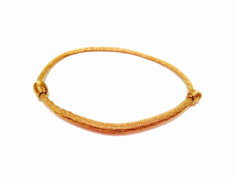 Dark gold string bracelet minimalistic bracelet womens bracelet