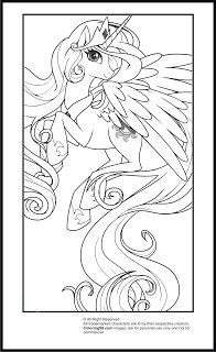 My Little Pony Princess Celestia Coloring Pages  Plaatsen om te