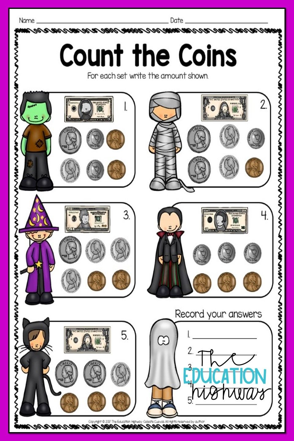 Pin By Classy Colleagues On All Things Educational Halloween Math Printables Halloween Math Math [ 1440 x 960 Pixel ]