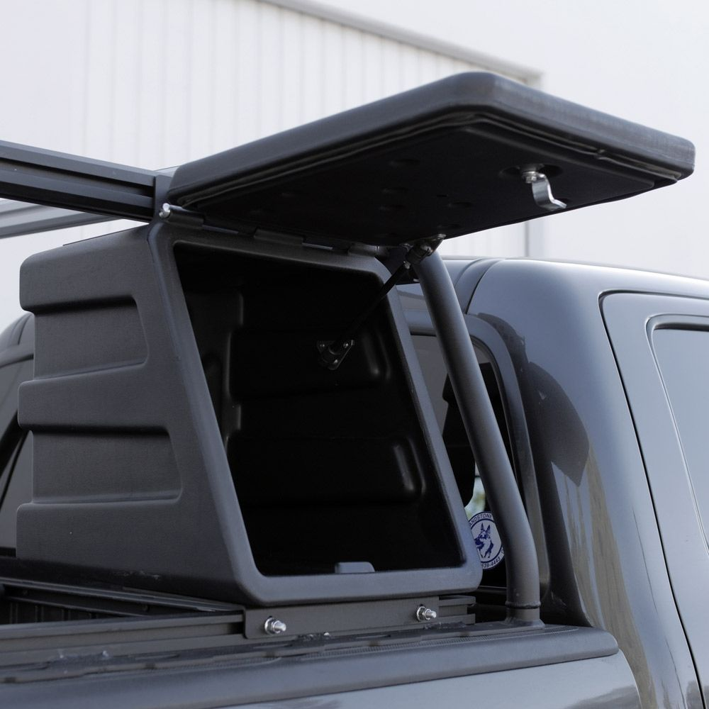 truck bed rack active cargo system integrated gear box [ 1000 x 1000 Pixel ]