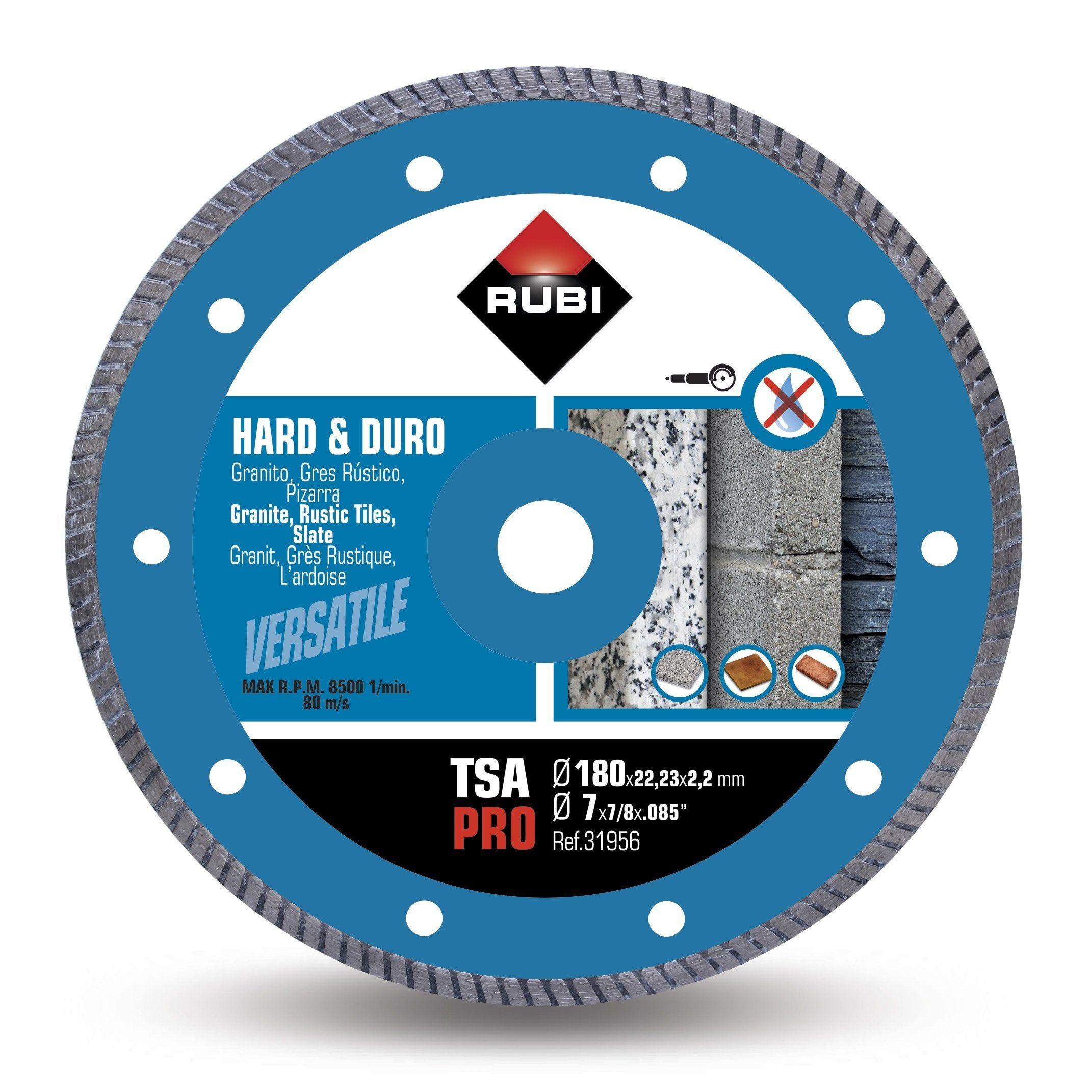 Disque Diamant Turbo Rubi Tsa 180 Pro 180 Mm Disque Diamant Diamant Et Rubis