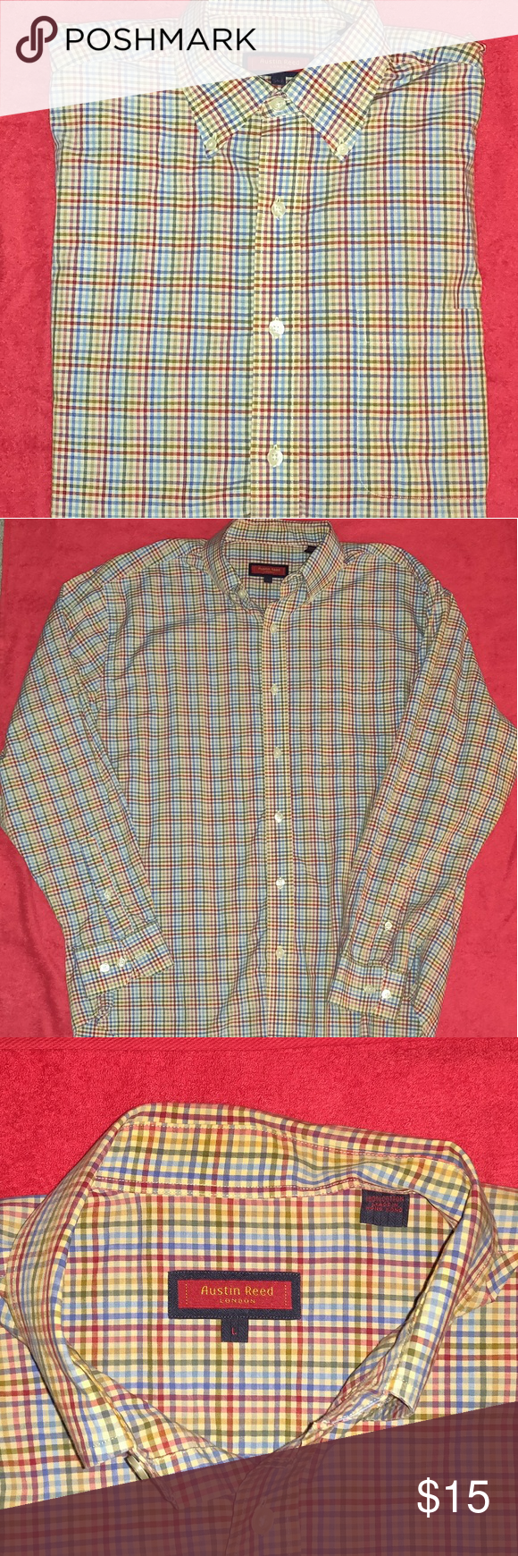 Austin Reed London Casual Button Down Long Sleeve Casual Cotton Austin Reed Shirts Casual Button Down Shirts Casual Clothes Design Austin Reed