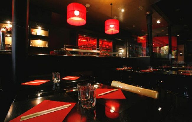 asian restaurant interior design red lantern lighting unit