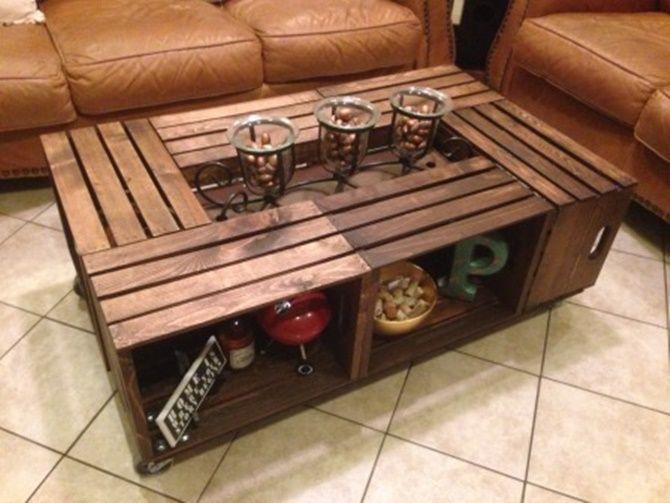 Diy Wine Fruit Wood Crate Coffee Table Free Plan 6 Wood Crates Wood Crate Coffee Table Crate Coffee Table Wooden Crate Coffee Table