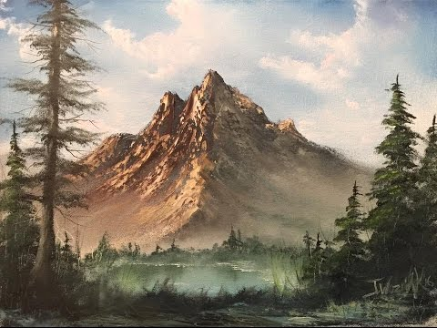 Paintings By Justin Lakeview Mountain Full Painting Unedited Youtube Mountain Landscape Painting Mountain Landscape Landscape