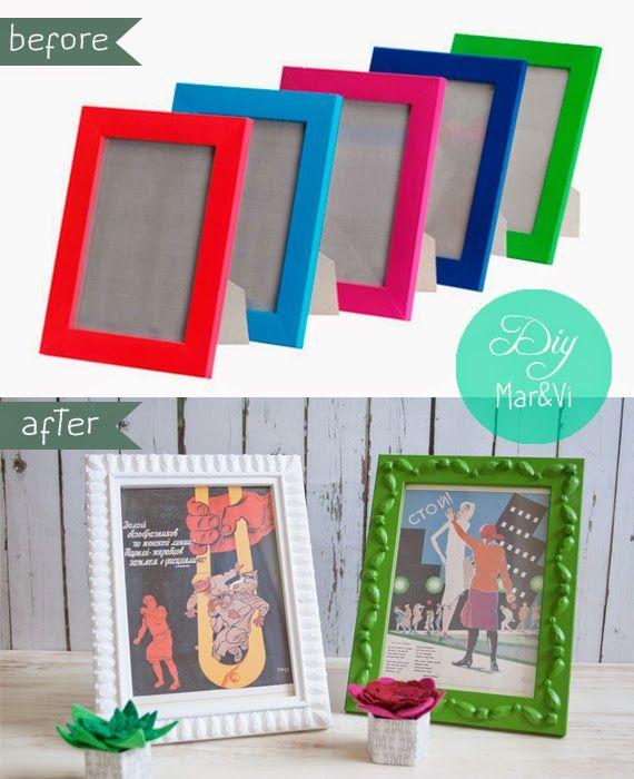 Ikea hack marcos nyttja crafts bazaar pinterest cosas creativas ikea y bricolaje - Marcos de foto ikea ...